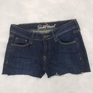 Old Navy The Sweet Heart Cut Off Jean Shorts Blue